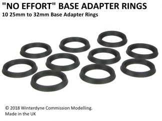 25mm to 32mm Base Adapter Rings